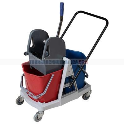 Xe dọn vệ sinh công nghiệp 2 xô  AF08076