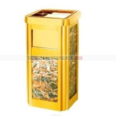 Thùng rác đá hoa cương có khay gạt tàn thuốc lá TLJA48