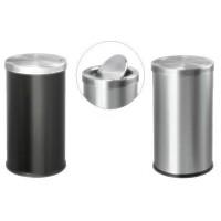 Thùng rác inox tròn nắp lật giá rẻ TLJA35O