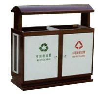 Thùng đựng rác kim loại có hai ngăn TPG-C1015