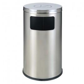 Thùng rác inox vuông có gạt tàn A34-K1