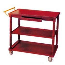 Xe đẩy phục vụ bàn bằng gỗ 3 tầng TLJWY09
